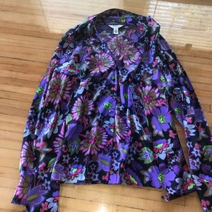 Lilly Pulitzer Silk Blend blouse Size 8